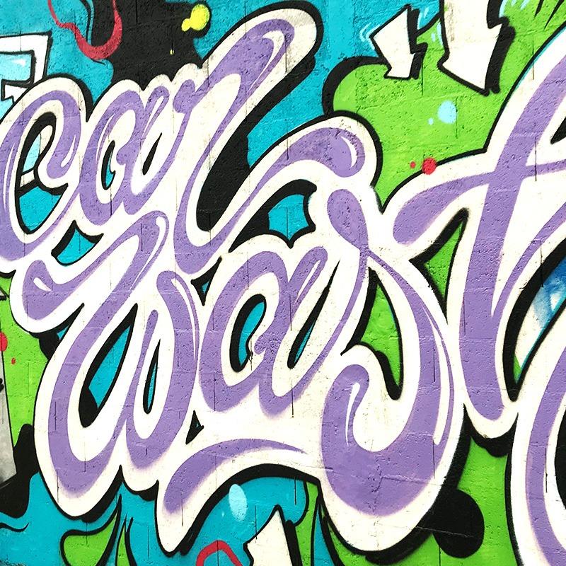 graffiti, tag, street art, décoration, car wash, garage
