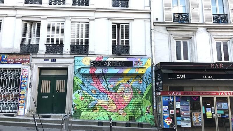 décoration, fresque, peinture, graff, devanture, magasin