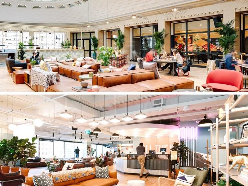 décoration, intérieur, bureaux, wework, paris, monde, openspace, coworking