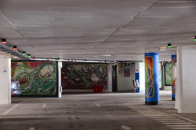 Décoration, graffiti, street art, Paris, habillage, murs