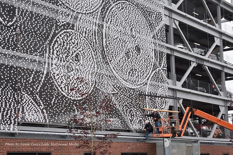 Décoration, parking, Paris, Street Art, design