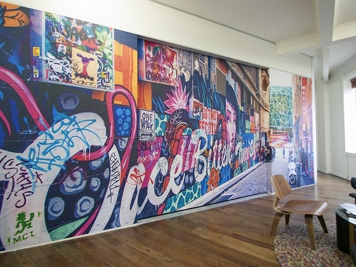 reproduction, photo grand format, décoration, street art, graffiti.