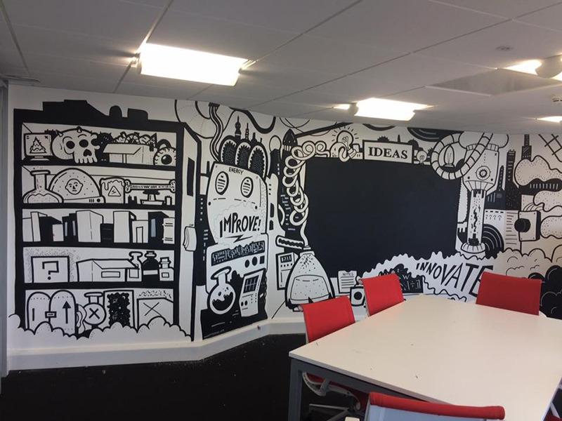 Décoration, salle de réunion, Paris, Street Art, Graffiti