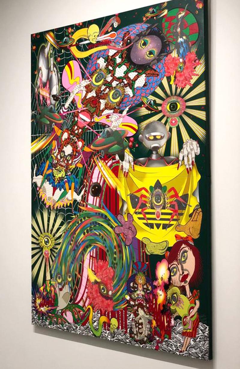 toile, art, contemporain, moderne, jeune, street, pop, couleurs, japon