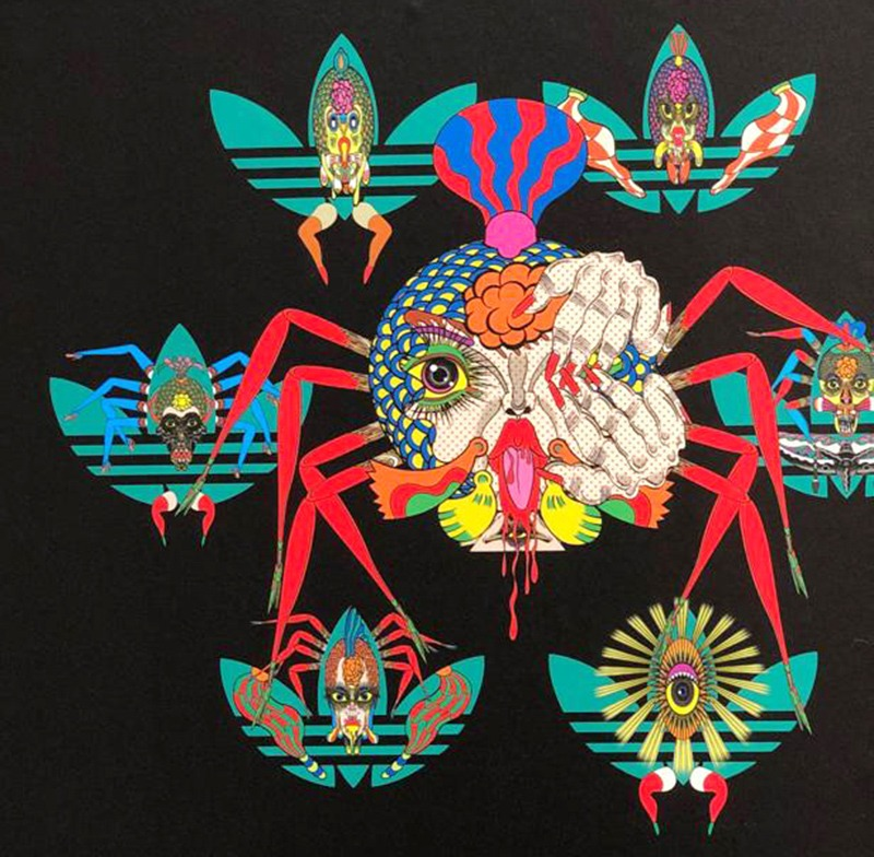 Adidas, pop art, araignée, Keishi Tanaami