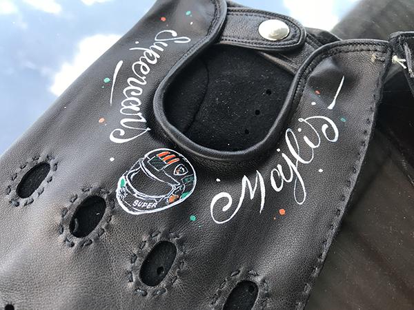 gants, luxe, cuir, personnalisés, art, cuir