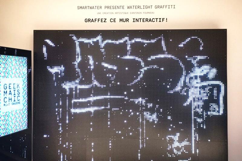 graffiti, street art, paris, digital, numérique, écran, grand magasin, opération