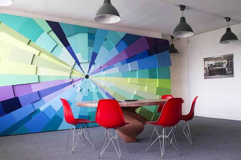 Décoration , mur, salle, réunion, art, street, graff