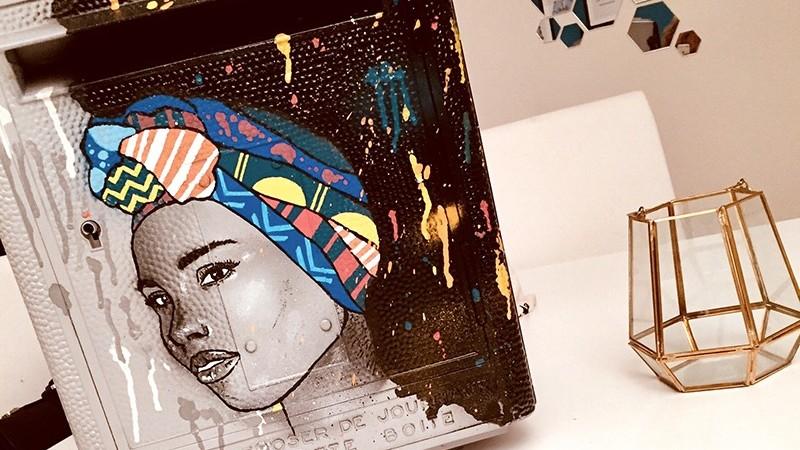 Motifs, graff, graffiti, texture, déco, objets, portrait, poste