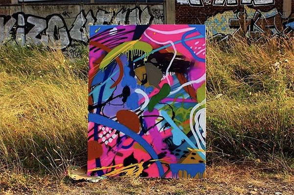 Canvas, graffiti, Street Art, Paris