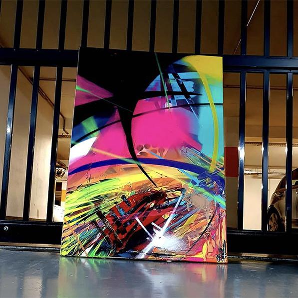 Toile, graffiti, abstraite, Sucre, Seyze, graffiti, Paris