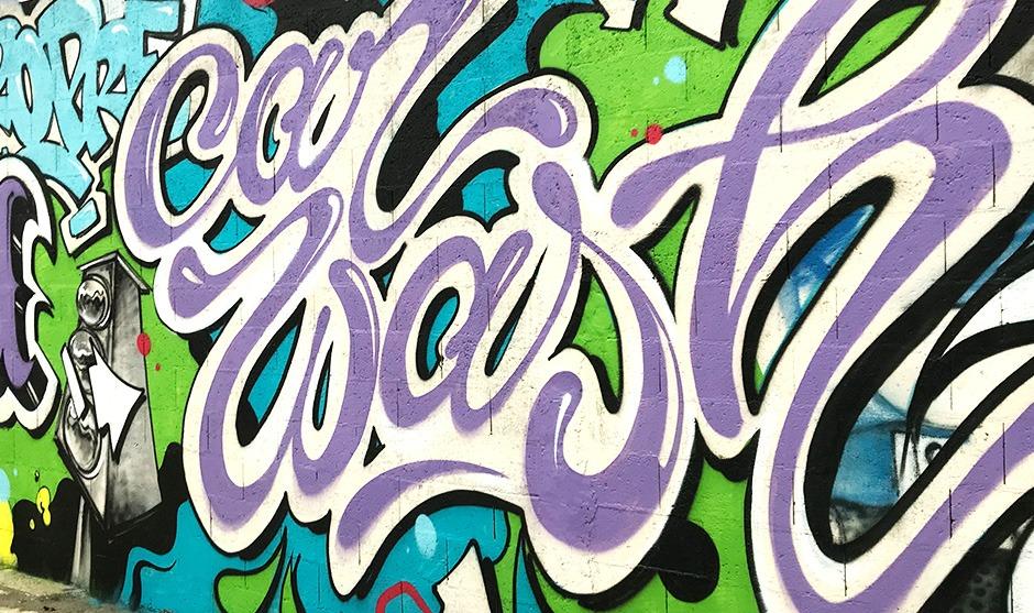 décoration, mur, car cash, américain, décoration, street art, couleurs, pop
