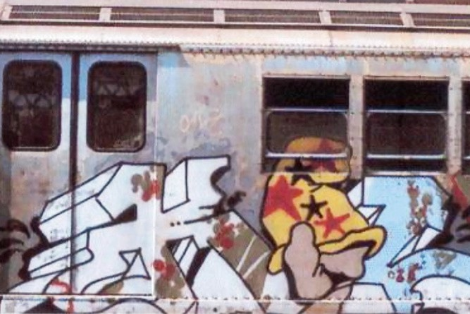 personnage, Vaughn Bodé, fresque, métro, graffiti, street art