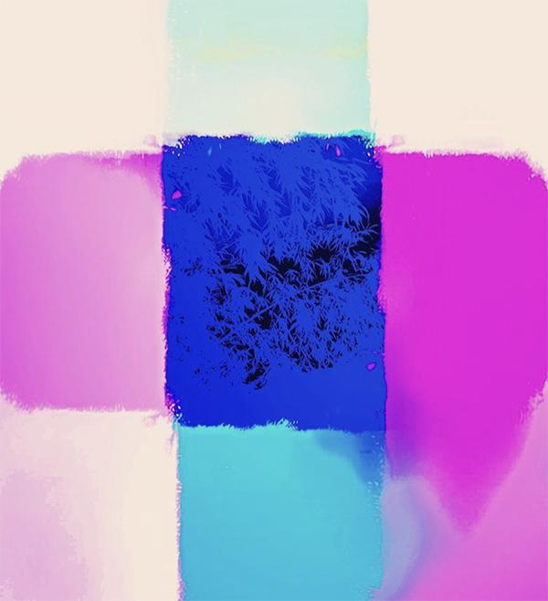 couleurs, combinaison, rose, bleu, moderne
