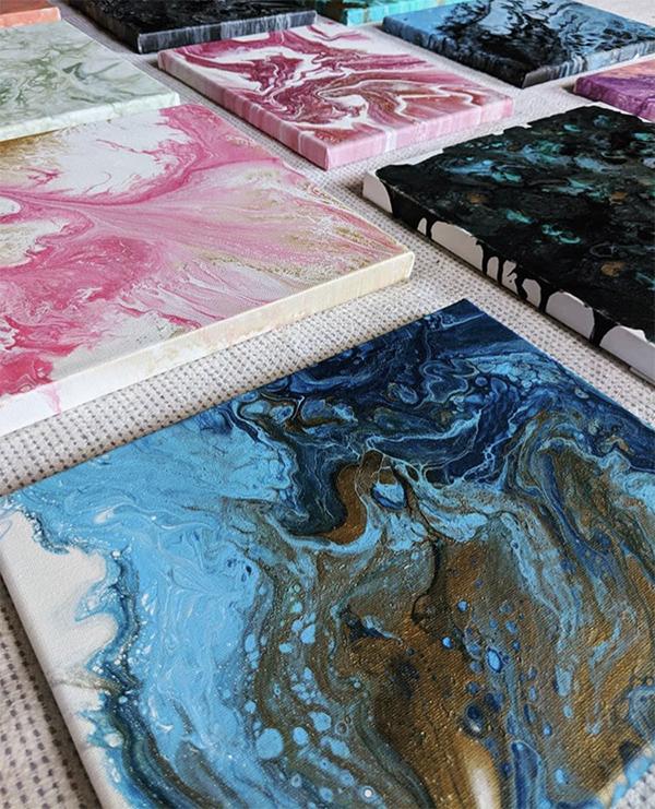 textures, modernes, marbres, colorés
