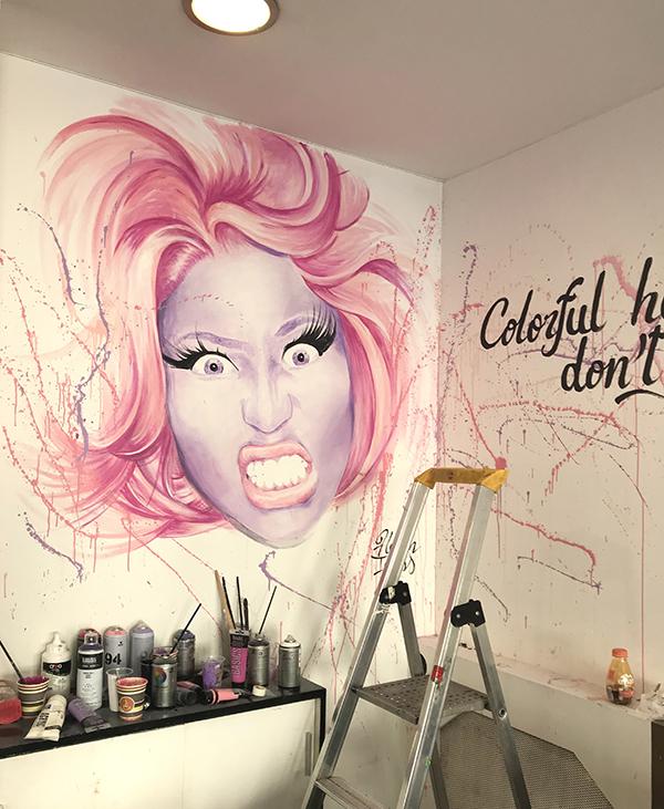 décoration, mur, graffiti, graff, street art, Paris
