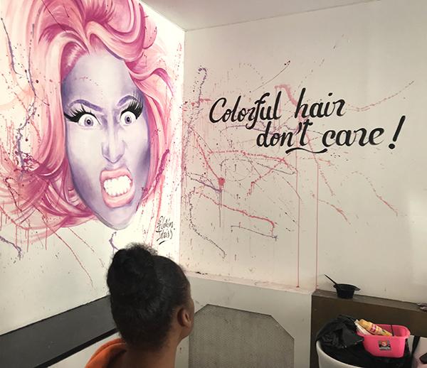 Colorful Hair,Nicki Minaj, portrait