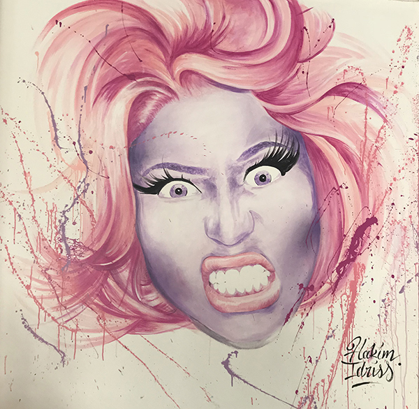 Portrait, Nicki Minaj, street art