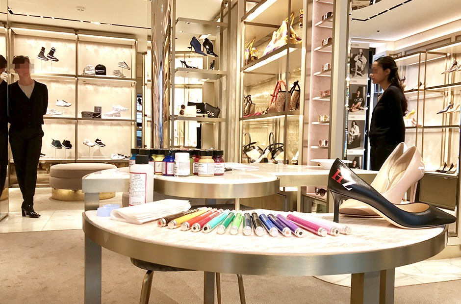 personnalisation, Jimmy Choo, Paris, art, rue Saint Honoré