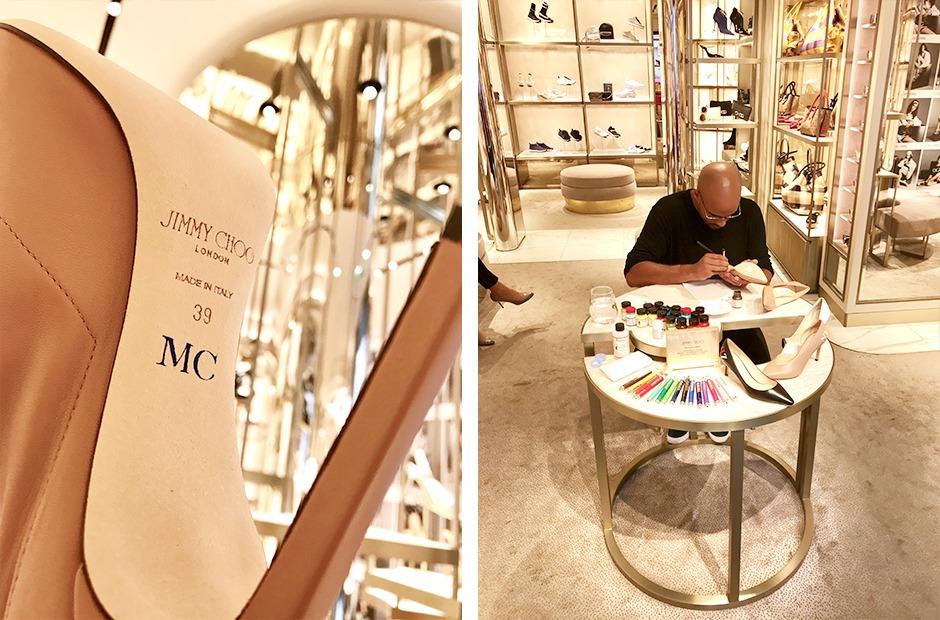 Jimmy Choo, monogrammes, art, personnalisation, Paris