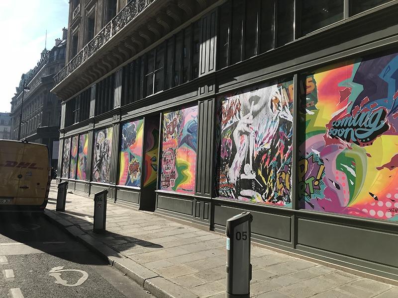 façade, graffiti, tag, street art, paris