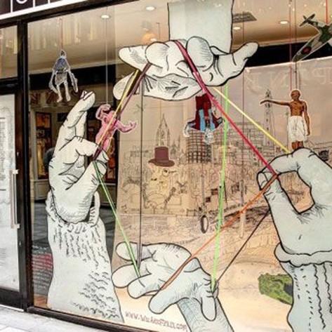 mains, graffiti, street art, peinture, habillage, décoration