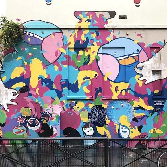 Street Art, Graffiti, fresque, Jacques Louvel Tessier, Paris