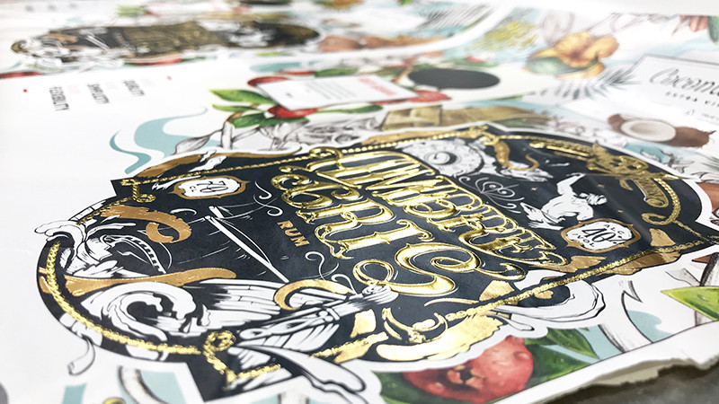 packaging, design, doré, art, doré, Rum