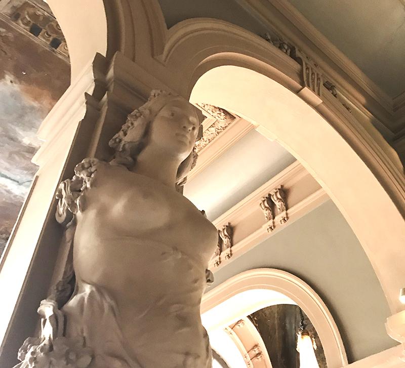décoration, intérieure, théâtre, parisien, Trianon