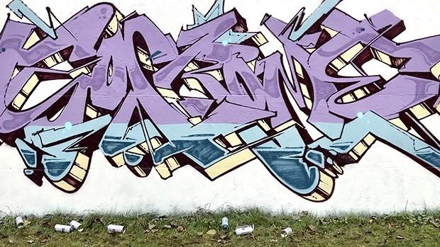 Graffiti, fond blanc, street art, graff, art, urbain, fond blanc