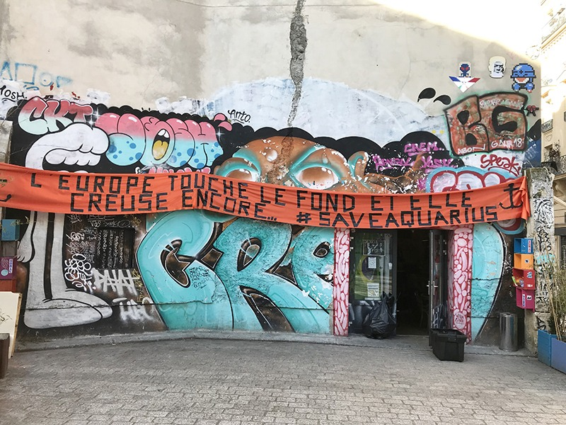 Graff, paris, parisien, alternatif, lieu, street art