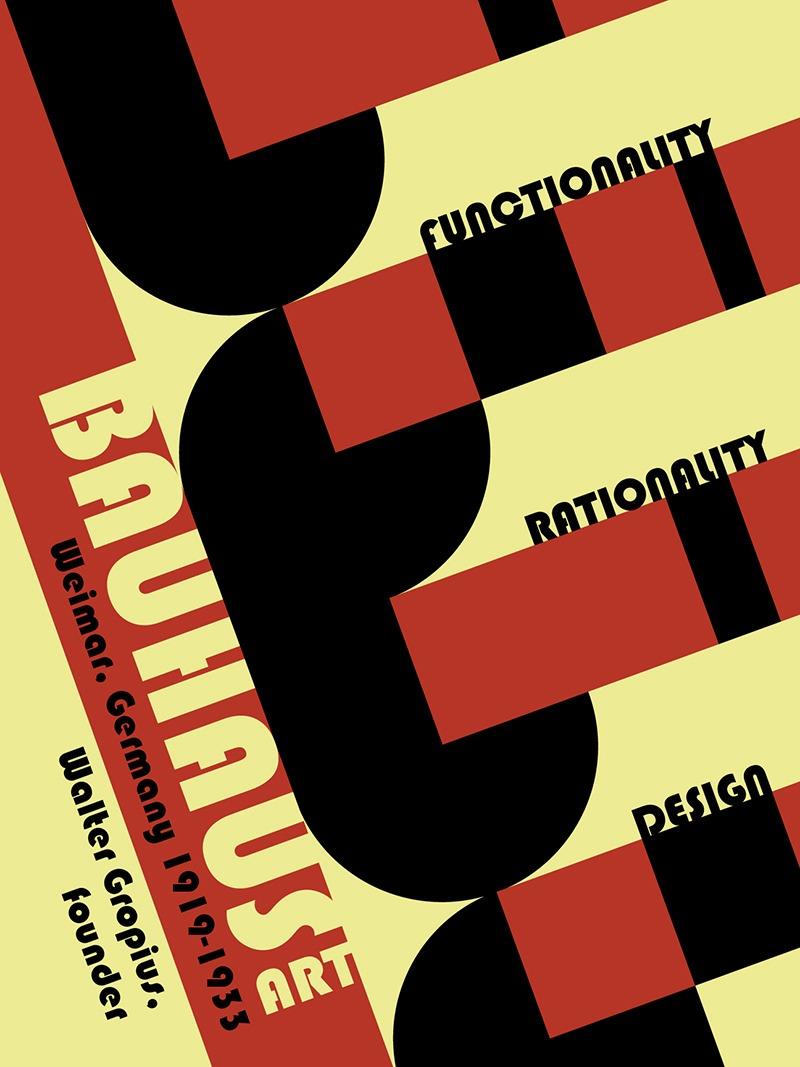 Affiche, Bauhaus, 1933, Fonctionnalité, rationalité, design