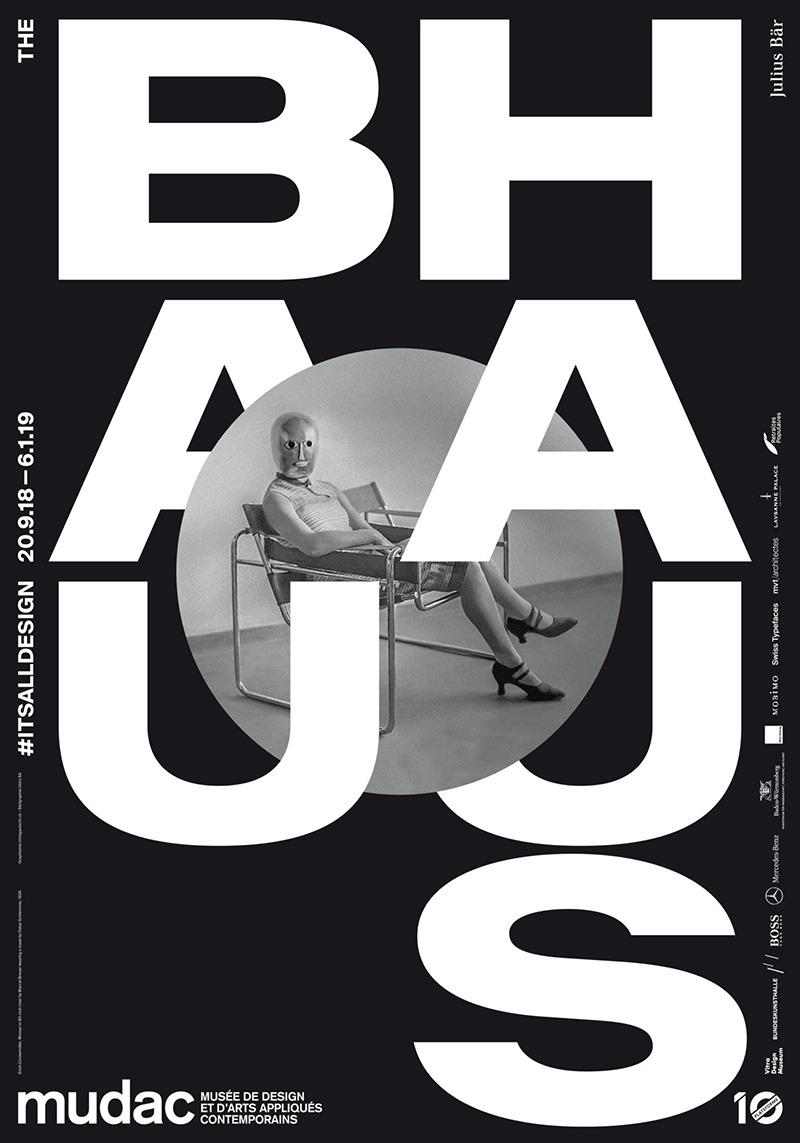 Affiche, Bauhaus, Arts, Mudac, Noir et Blanc