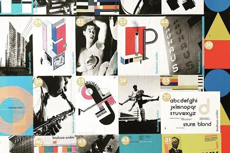 Univers, graphisme, Bauhaus, affiches, design