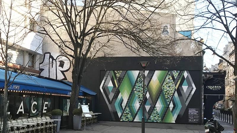 Espace, parisien, street artist, graffeur, en direct, paris