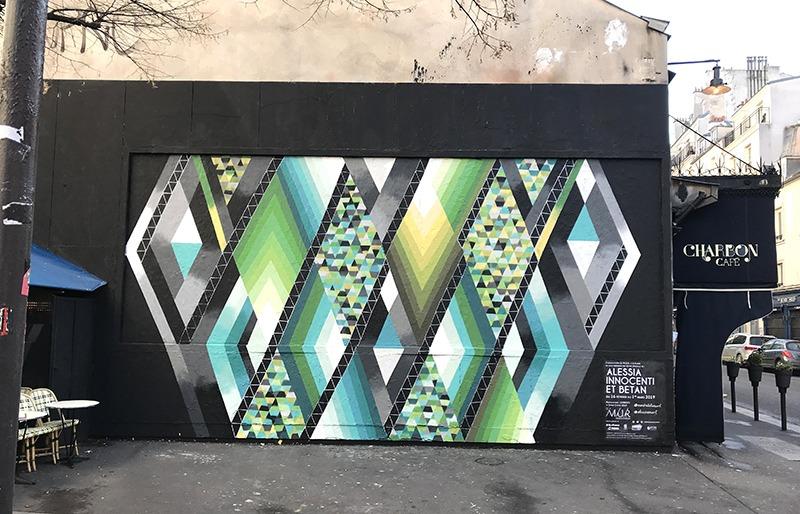 Le Mur, Paris, Oberkampf, street Art, Abstrait