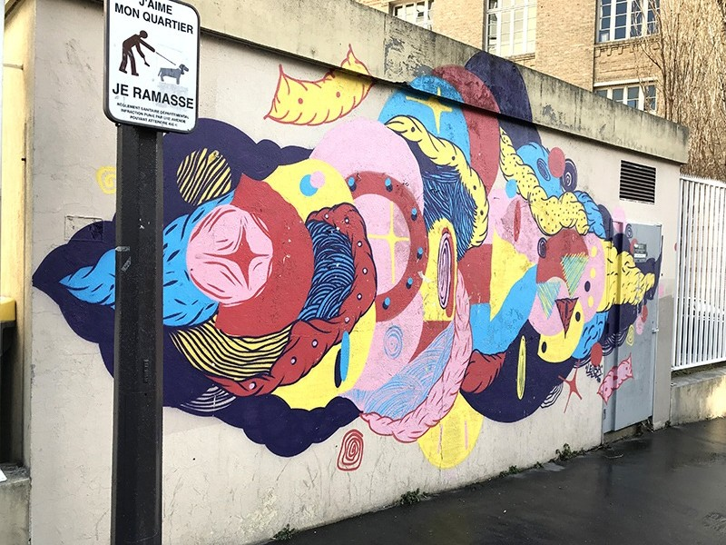 Fresque, Graffiti, Rue, street art, graffuturism, pressionisme, paris