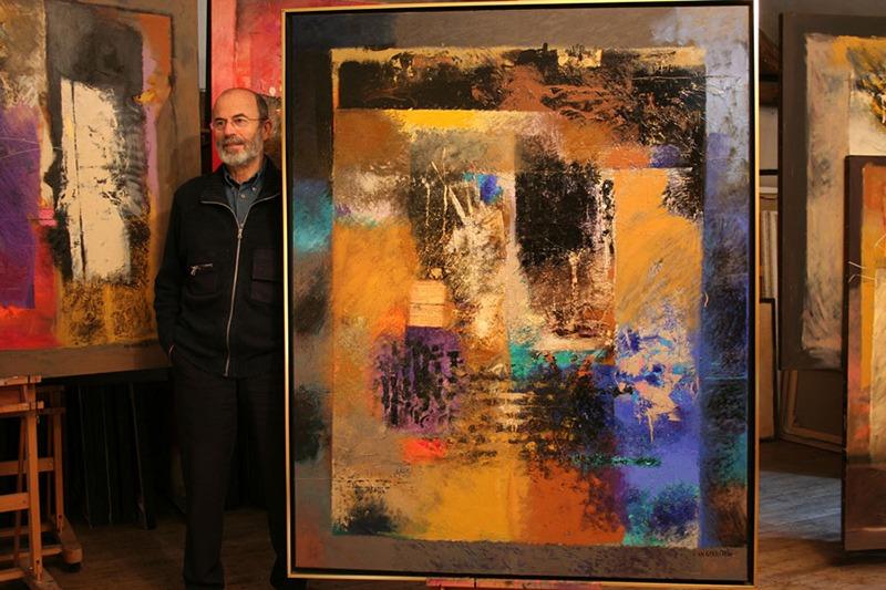 Charles, Goldstein, oeuvre, portrait, artiste, contemporain abstrait