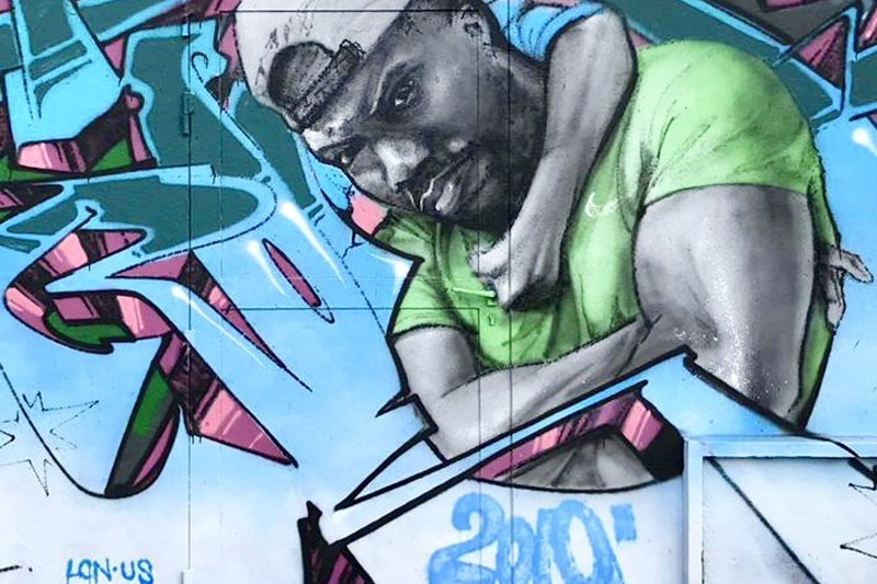 Kevin Hart, fresque, peinture, graffiti, street art, Paris