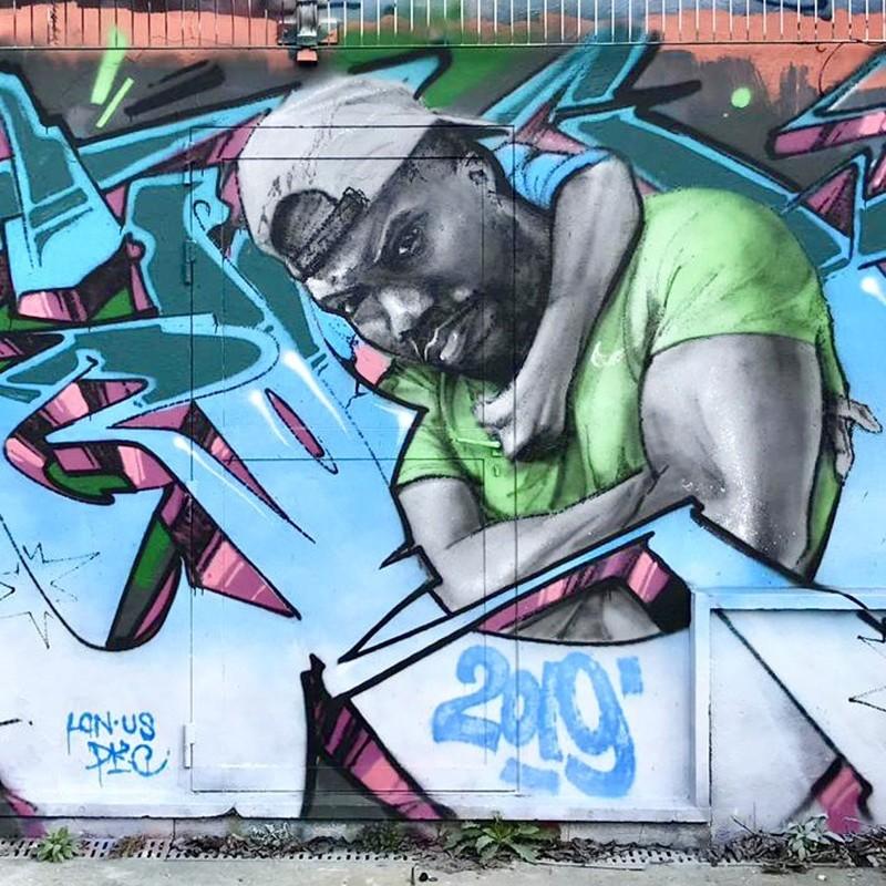 Kevin Hart, fresque, peinture, graffiti, street art, Paris