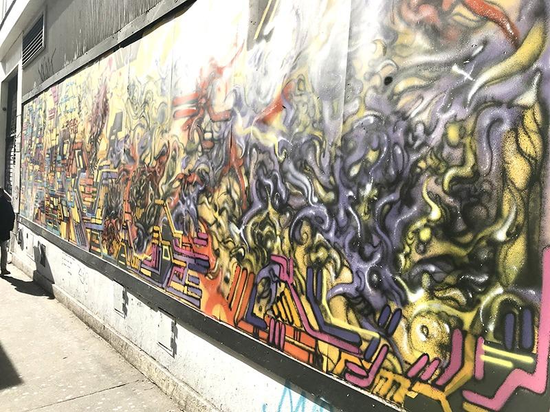 Lek, Stesi, Belleville, fresque, graffiti, rue, urbaine