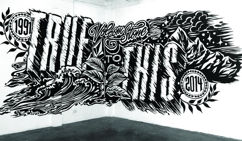 décoration, salle, réunion, art, noir et blanc, graff