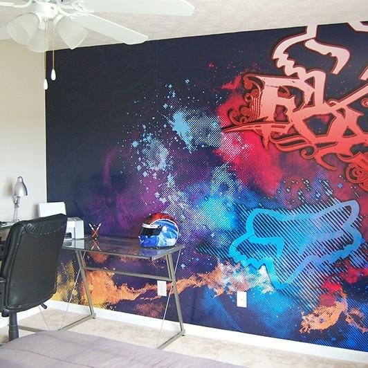 Bureaux, Décoration, Street, graffiti, colors, Paris