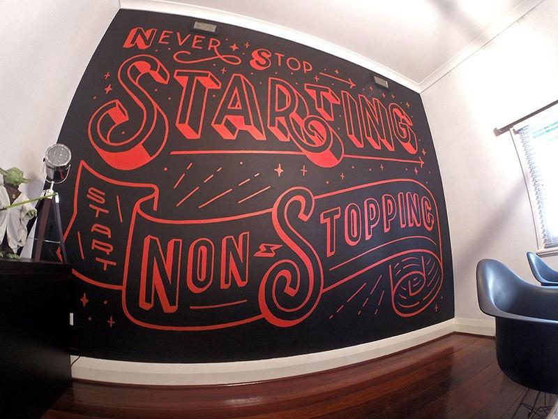Graffiti peint, mur, entreprise, société, paris