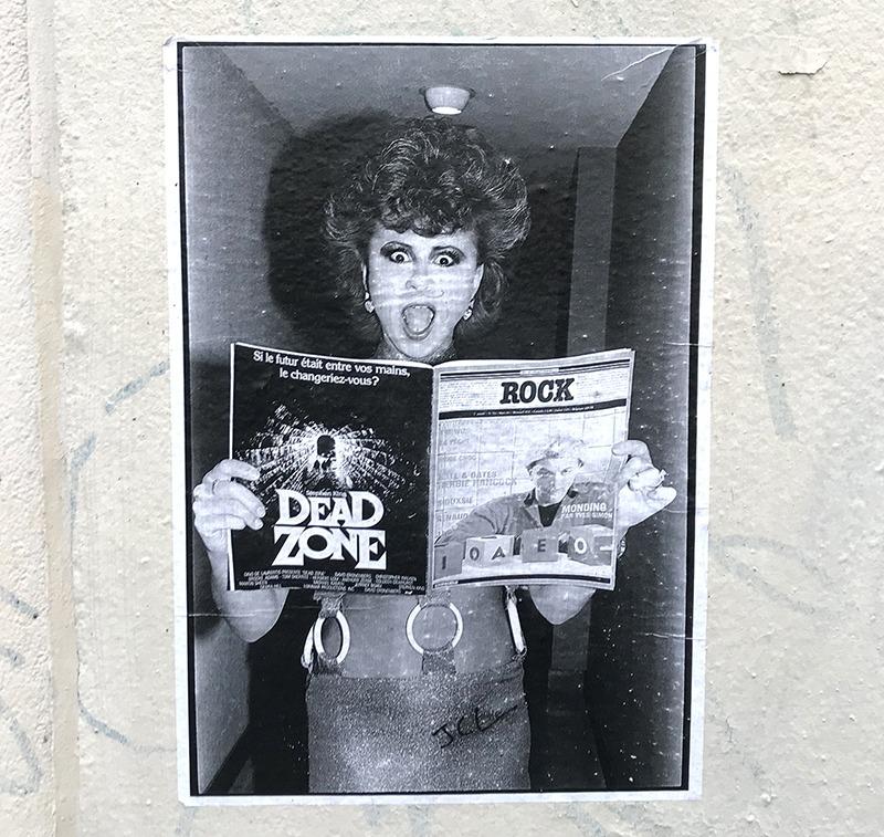affiche, rock, paris, street art, graffiti