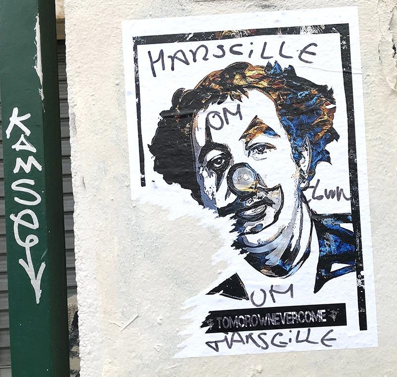 Affiche, Clown, Coluche, Paris, Street art, parisien, affichage