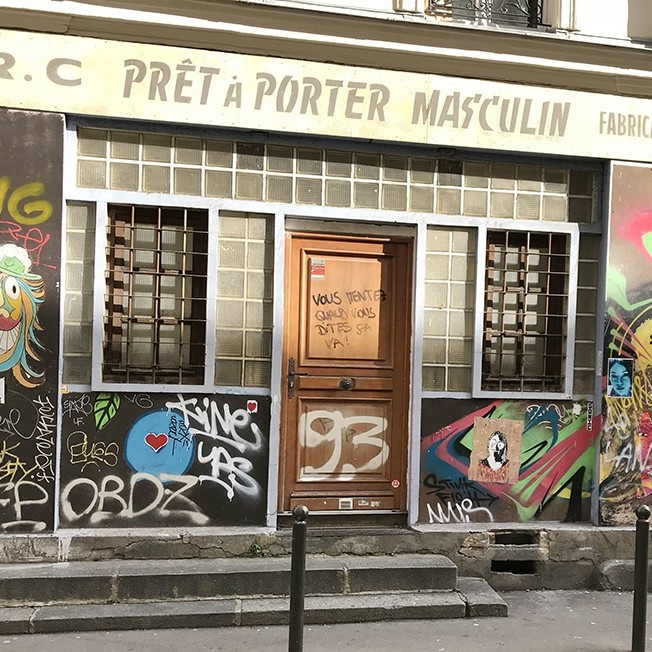 devanture, boutique, magasin, paris, graff, graffeur, street art