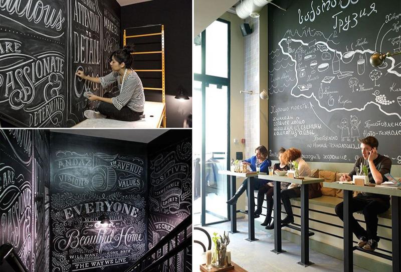 graffiti, street art, décoration, craie, ardoise, arts, typographie
