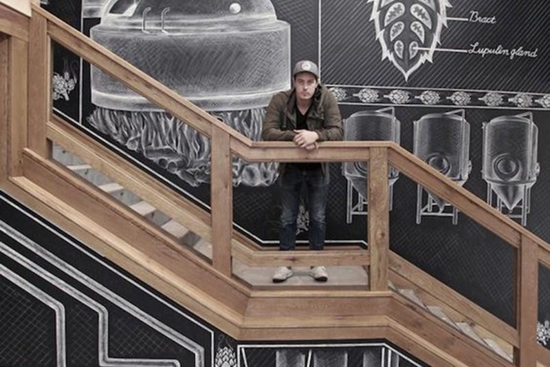 décoration, ardoise, noir et blanc, graffiti, Street Art