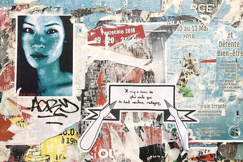 graffiti, street art, affiches, déchirures